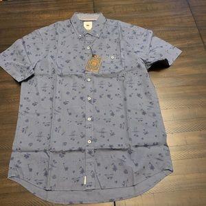 Copper & Oak Cotton Short Sleeve Print Buttondown